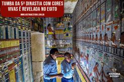 Tumba da Quinta Dinastia com cores vivas é revelada no Egito